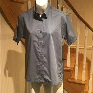 NWOT Blue with black threading  short sleev…